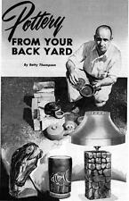 Article How To Make Pottery From Clay In The Back Yard Turn Throw Pots Wheel #59