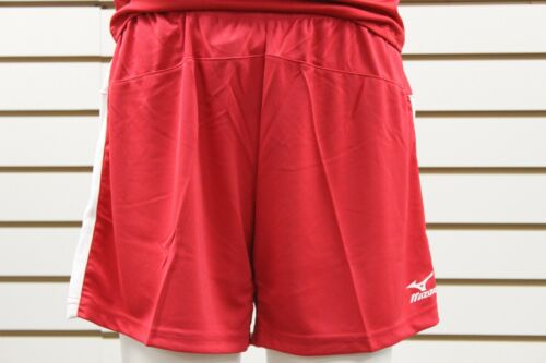 Women/'s Mizuno DryLite Lightweight Performance Volleyball Short Red//White 440308