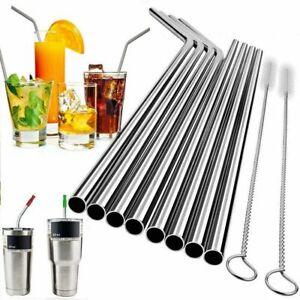 Stainless Steel Drinking Straws Metal Reusable 30 Oz Yeti Tumbler Clean Brush