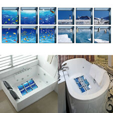 3D Bathtub Appliques Stickers Decals No-slip Tub Tattoos 6pcs 13x13cm Style3