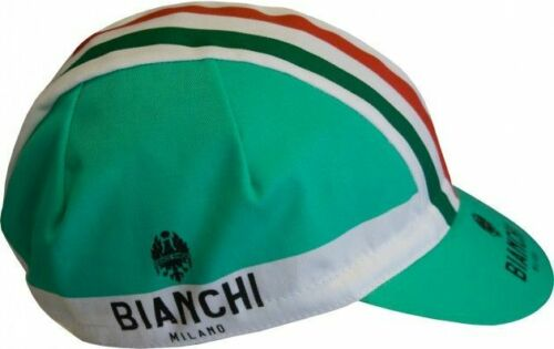 Bianchi-Milano Summer Cycling Cap 4300 - Made in Italy Celeste