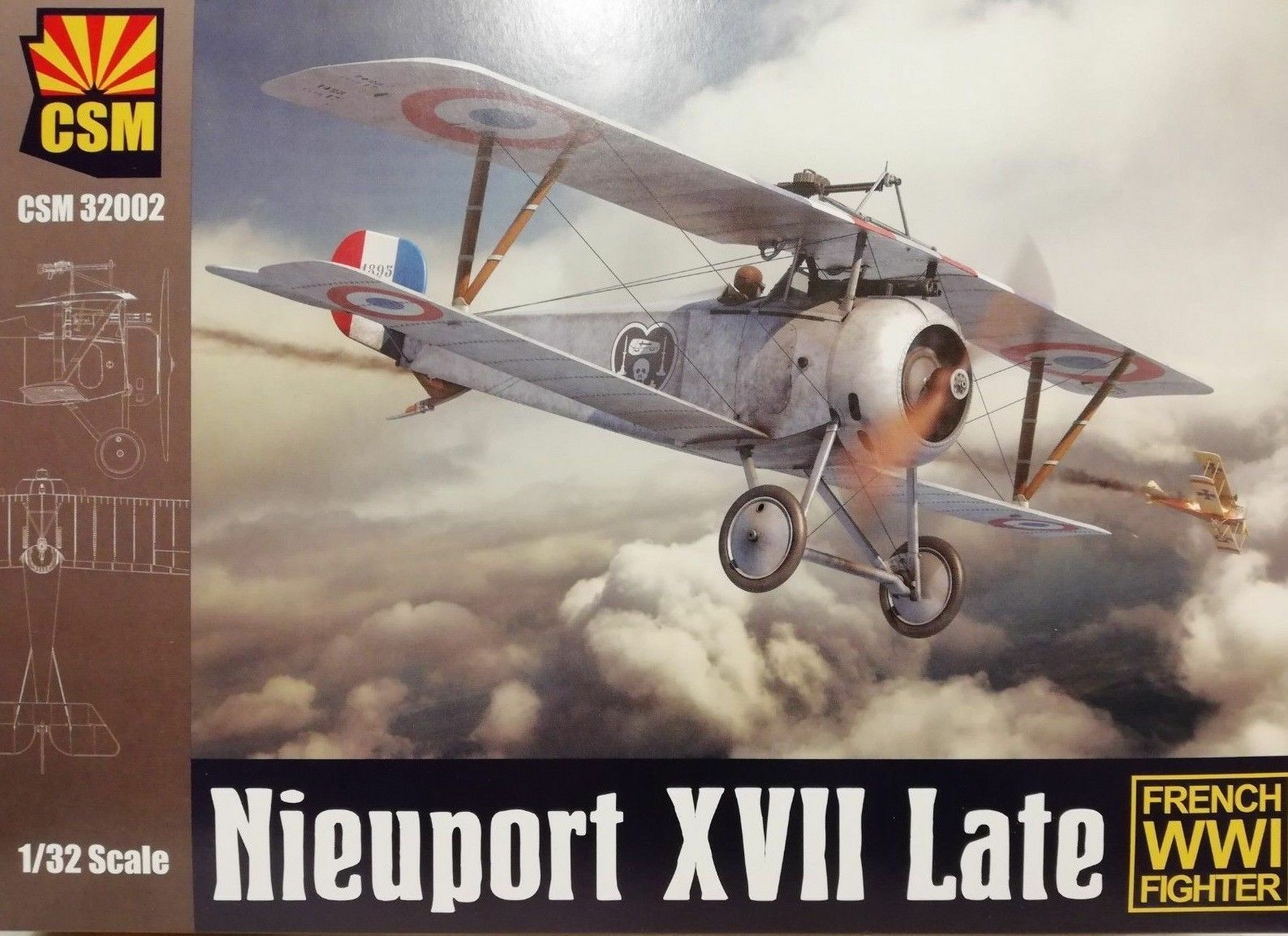 1 32 Copper State Models 32-002 Nieuport XVII Late with photo-etched parts