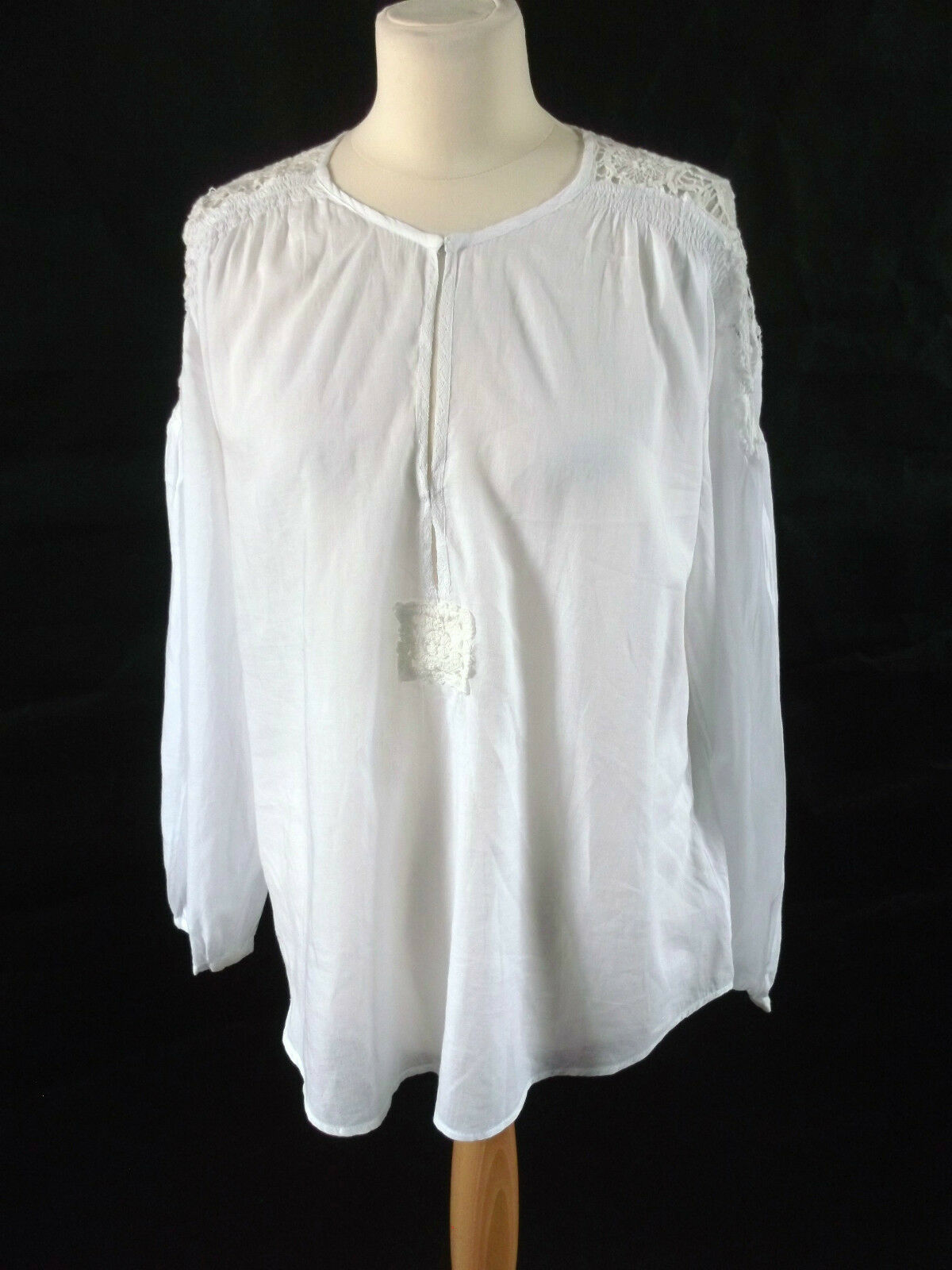 New With Tags CHRISTOPHE SAUVAT airy cotton Weiß tunic top M 14