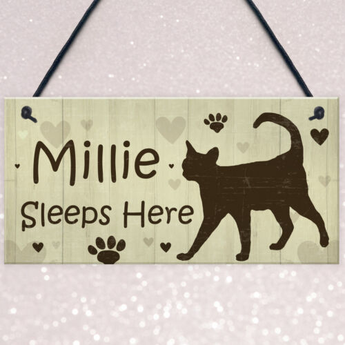 Cat Signs For Home Personalised Cat House Sign Door Plaque Pet Animal Lover Gift