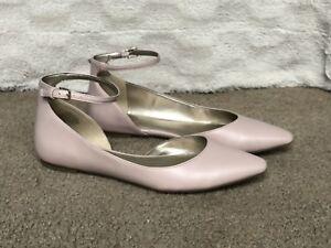 cd4c8e719e9 Bandolino Women Light Pink Ankle Strap Dress Shoe Flats Size 8.5M ...