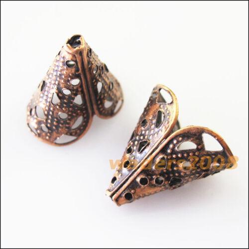 35 nouveau Antique Cuivre Connecteurs Bugle Cone End Bead Caps 16 mm