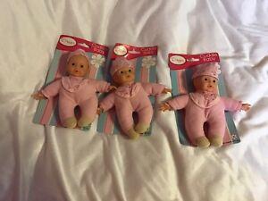"""3 X 8"""" Cuddle Baby Dolls-afficher Le Titre D'origine Calcul Minutieux Et BudgéTisation Stricte"""
