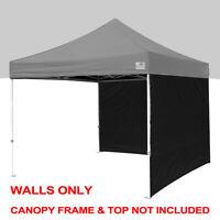 Ez Pop Up Canopy Side Walls 2 Pcs Pack 10x10 Instant Tent Zipper End Wall Panels