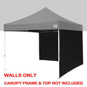 Image is loading 2Pc-Side-Walls-Panels-5x5-10x10-10x15-10x20-  sc 1 st  eBay & 2Pc Side Walls Panels 5x5 10x10 10x15 10x20 Ez Pop Up Canopy ...