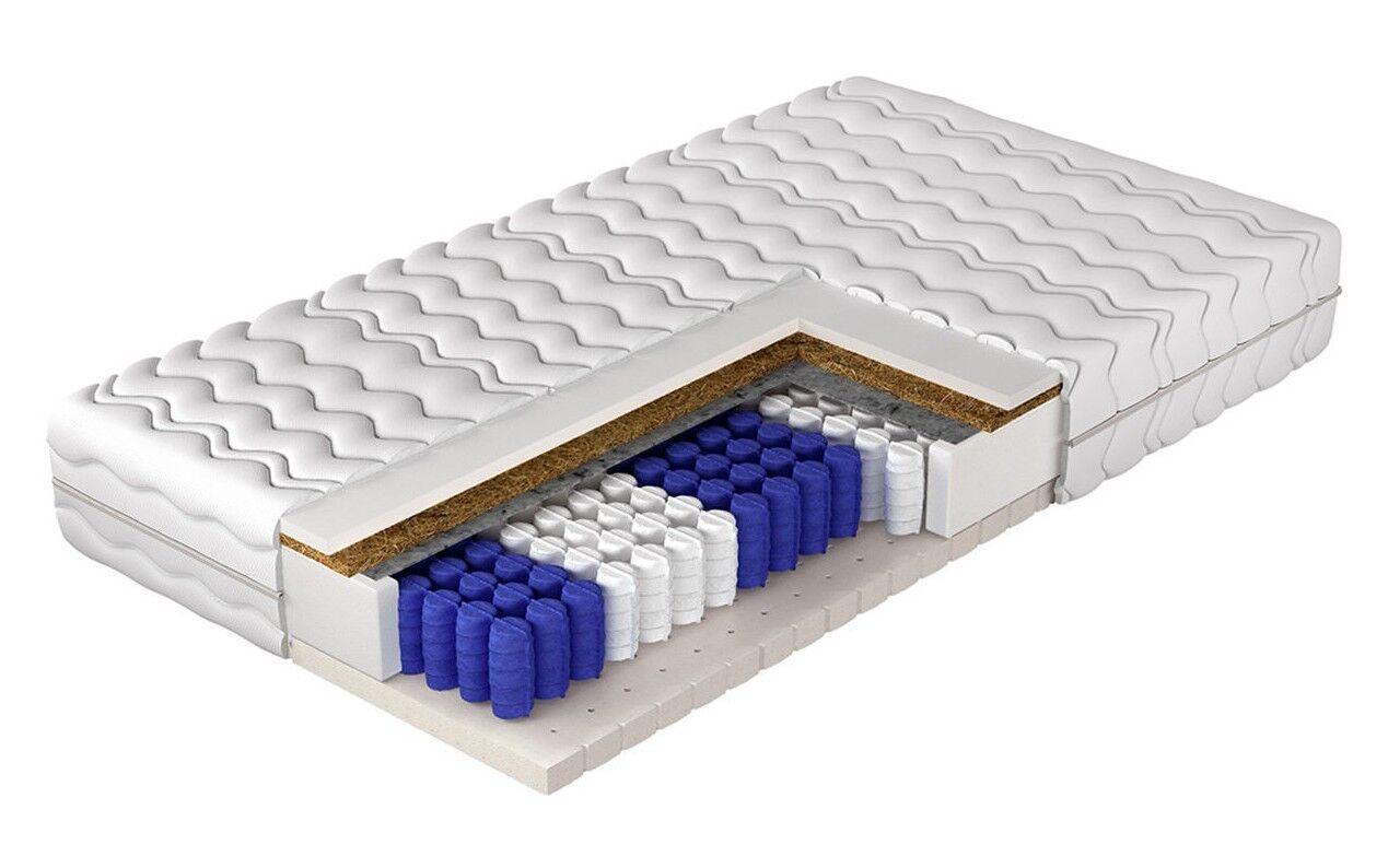Matratze Protazzo Latexschaumstoff Kokosmatte Taschenfedern 7- Zonen Haltbarkeit