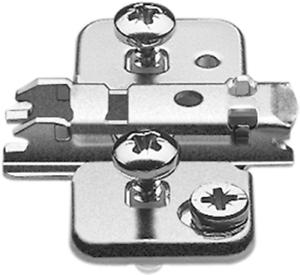 0 mm HV: Exzenter 174H710ZE Blum CLIP Montageplatte kreuz Stahl EXPANDO