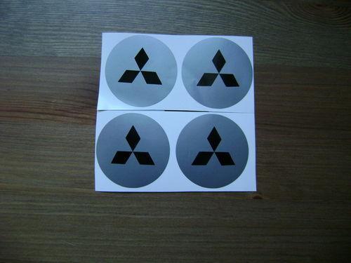 4x 60 mm fit mitsubishi wheel STICKERS center badge centre trim cap hub alloy bk