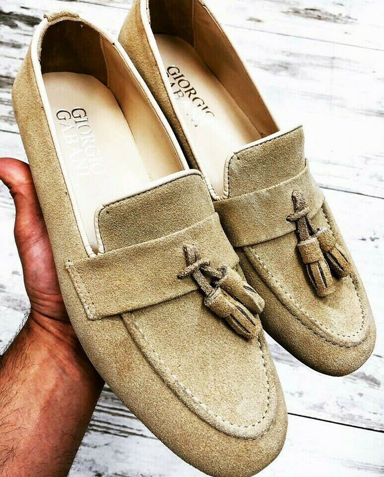Giorgio's loafers beige leather loafer zapatos wild man zapatos 39