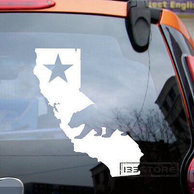 Car Window Wall Flag of California Bear Cali Republic Star Decal Sticker Vinyl