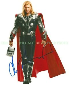 CHRIS-HEMSWORTH-SIGNED-AUTOGRAPH-8x10-RPT-PHOTO-THOR-THE-AVENGERS