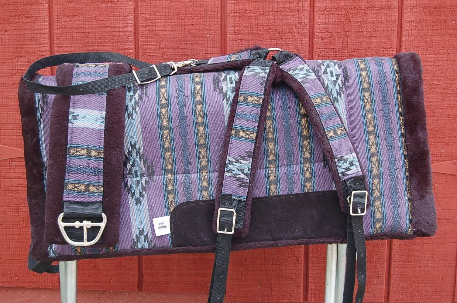RIDERS CHOICE viola AZTEC SADDLE PAD COLLAR GIRTH FREE SHIP MADE IN ALABAMA