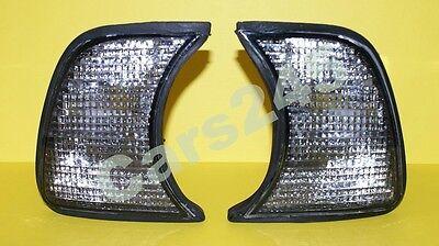 BMW 5 Series E34 518 520 524 525 530 535 540 M5 Corner Lights Smoke PAIR 89-1995