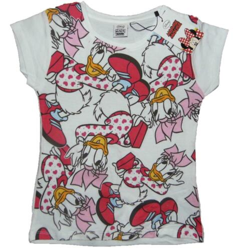 Mädchen Daisy Duck T-Shirt 100/% Baumwolle 3-4Y bis Zu 13-14Y Hell Sommerlich
