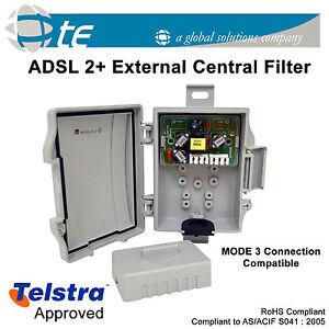 adsl2 external central telstra phone line filter splitter. Black Bedroom Furniture Sets. Home Design Ideas