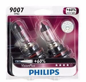 2x Philips 9007 Hb5 Visionplus Upgrade Headlight 60 More