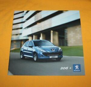 Peugeot-206-2009-Prospekt-Brochure-Catalog-Depliant-Folder-Prospetto-Broschyr