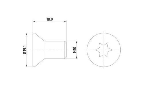 2 x Schraube für Bremsscheibe Bremsscheibenschraube Mini Cooper Land Rover MG