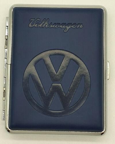 VW Zigarettenetui mit Logo Volkswagen für 16 Zigaretten Etui Zigarettenbox Blau