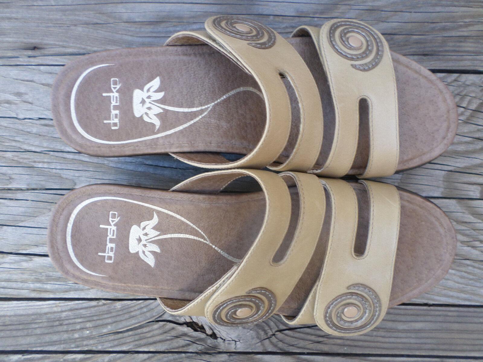 Dansko Tan Leather Sandals Donna  37      6.5-7 f5f92c