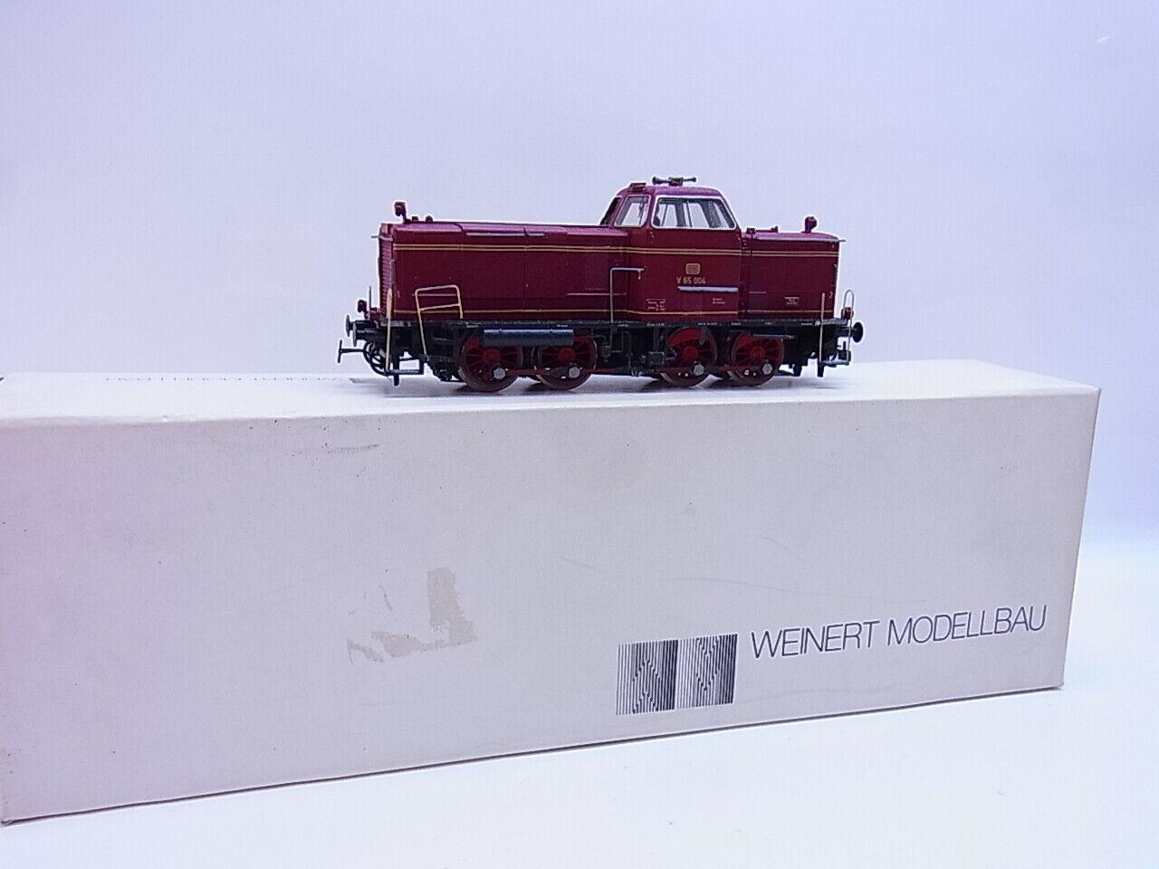 56545 Weinert h0 4006 diesellok V 65 de la DB en OVP para modelo ferroviario