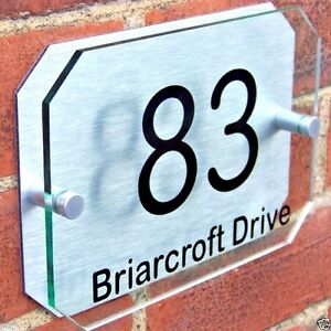 HOUSE-DOOR-NUMBER-PLAQUE-WALL-SIGN-NAME-PLATE-GLASS-EFFECT-ACRYLIC-ALUMINIUM