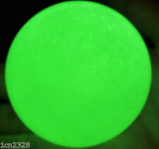 Hot 80mm Rare Giant Stone Glow In The Dark Stone Ball green + stand