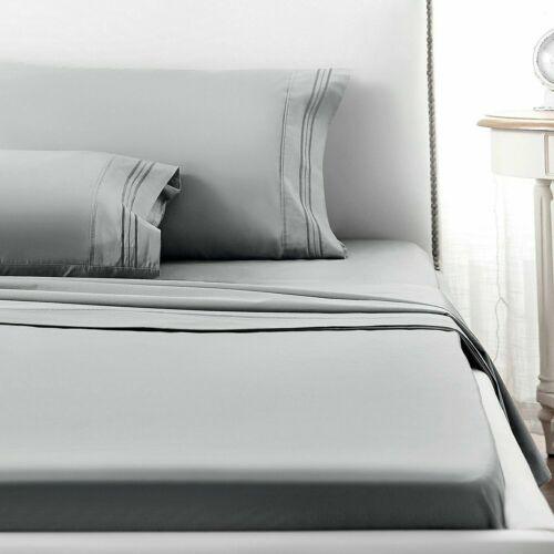 Ultra Soft Egyptian Comfort Deep Pocket Bed Sheet Set 3//4pc Twin Full Queen King