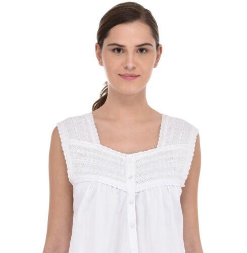 Femmes Blanc Vintage Coton Chemise de nuitcoton Lane