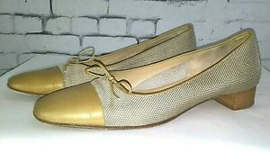 Amalfi-Italian-made-Gold-Mesh-Flats-with-Patent-Leather-Toe-8-5
