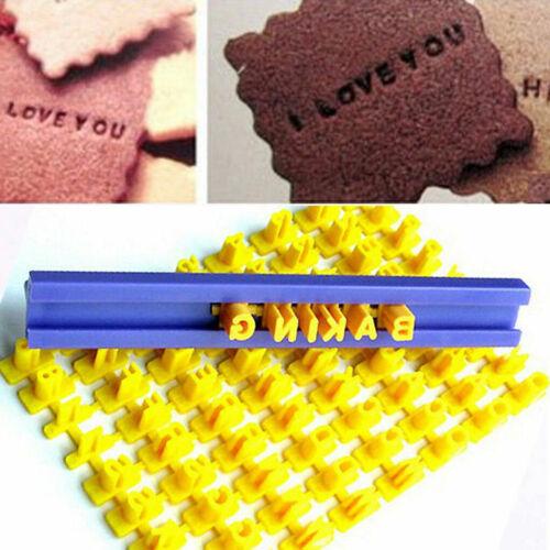 Alphabet Letter Number Cookie Cake Fondant Press Stamp Embosser Mould