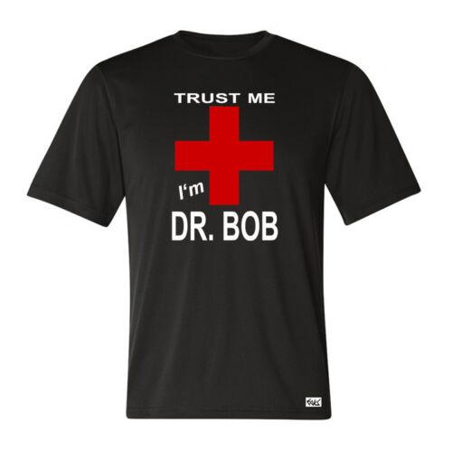 """I/'m DR BOB/"""" schwarz für Dschungel Camp Fans Fun Arzt EAKS® Herren T-Shirt /"""".."""