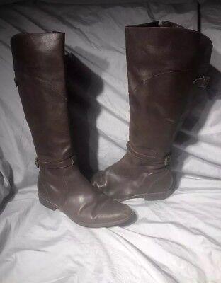 L L Bean Deerfield Equestrian Tall Brown Zip Leather