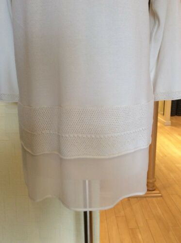 Size 14 Bnwt £67 Riani Knit Rrp Now £149 Cream Top Fine 5AqBwB