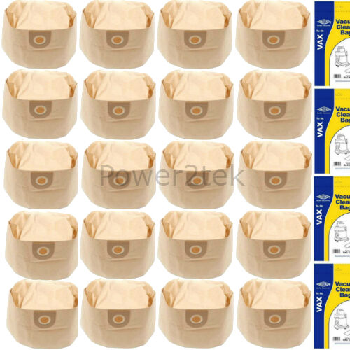 20x 1S Vacuum Cleaner Bags for Vax 6131BLS 6131E 6131T Hoover NEW