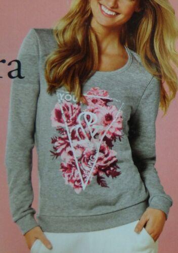 Damen Sweatshirt Pullover Oversize Blumen Hipster S M L *E51-4