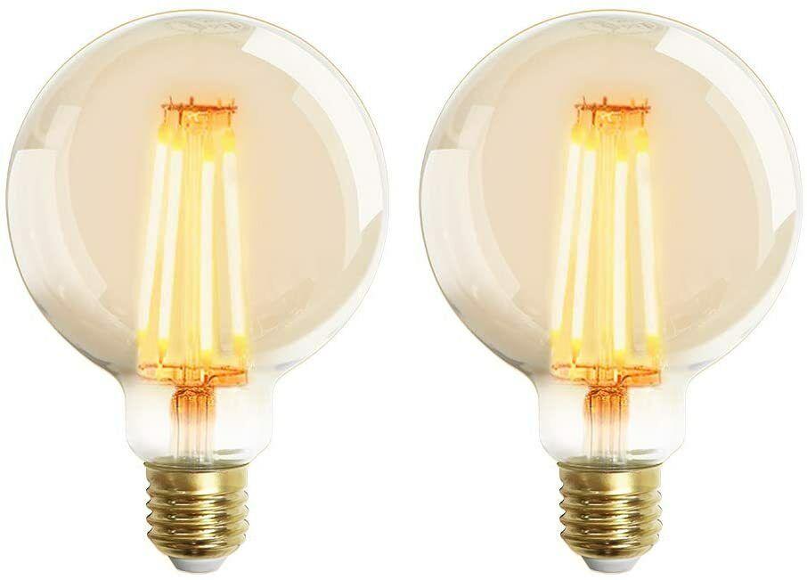 2 X Bombillas Edison Vintage 4W LED Retro Decorativa Bombillas Blanco Cálido