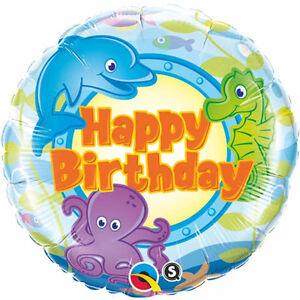 BIRTHDAY-BALLOON-18-034-QUALATEX-UNDER-THE-SEA-PARTY-SUPPLIES-SEA-CREATURES-BALLOON