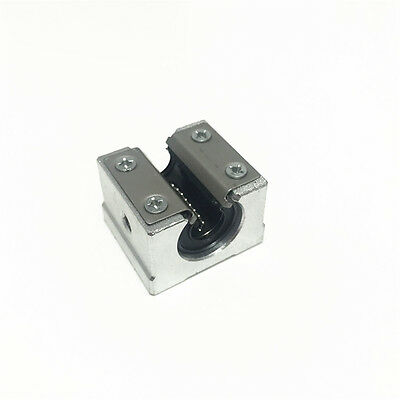 New 2pcs SBR10UU Linear Bearing 10mm Open Linear Bearing Slide block