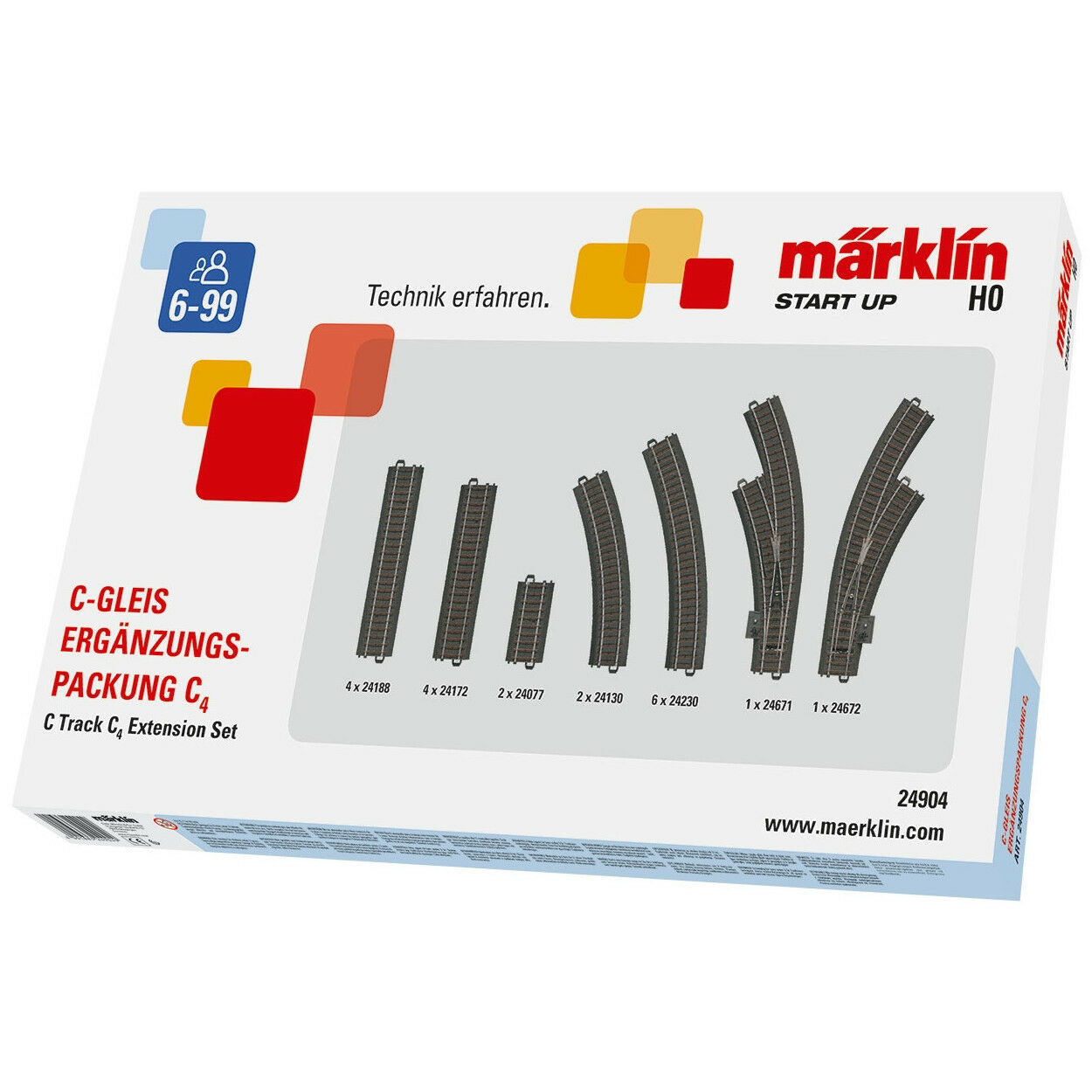Märklin 24904 C-BINARIO-complemento confezione c4 + + NUOVO & OVP + +