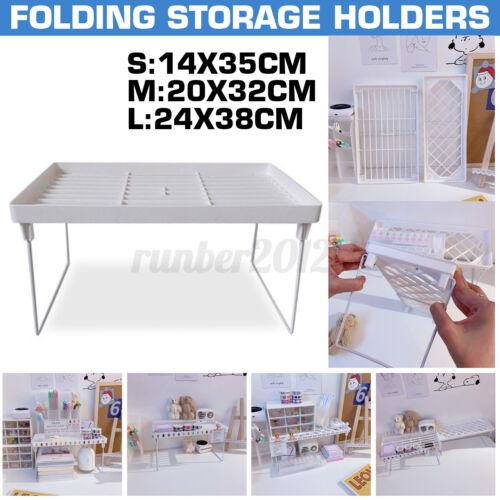 Storage Rack Shelf Foldable Holder Organizer Stackable Bathroom Kitchen Cupboard