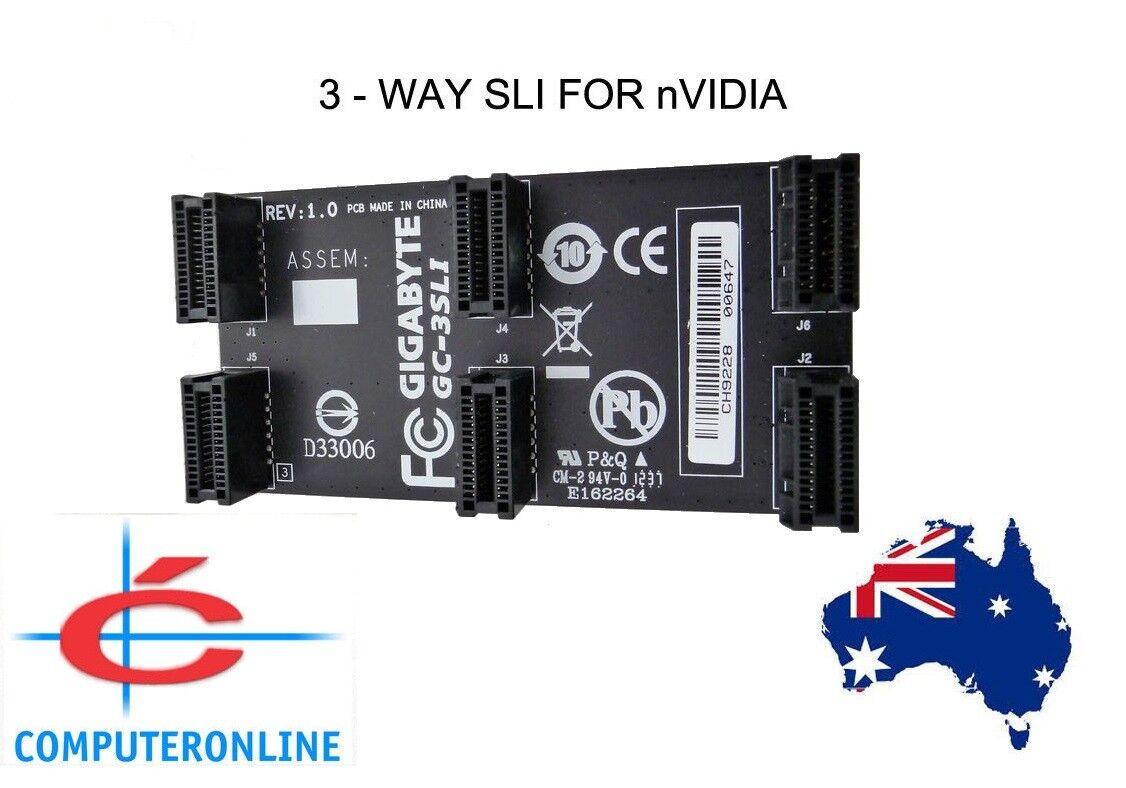 Video Cards: 3-way or 2 way GIGABYTE nVidia SLi Bridge Cable ...