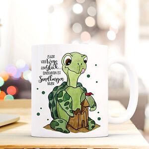 Baby Tasse Becher Kaffeetasse Schildkröte Punkte Und Spruch ...wege Zum Glück Ts462 Attraktiv Und Langlebig Kindergeschirr & -besteck