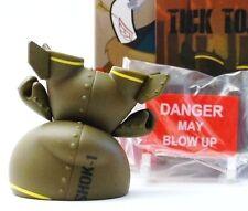 "Kidrobot Dunny 3"" 2014 Art of War Shok1 AOW Tic Toc Vinyl Figure"