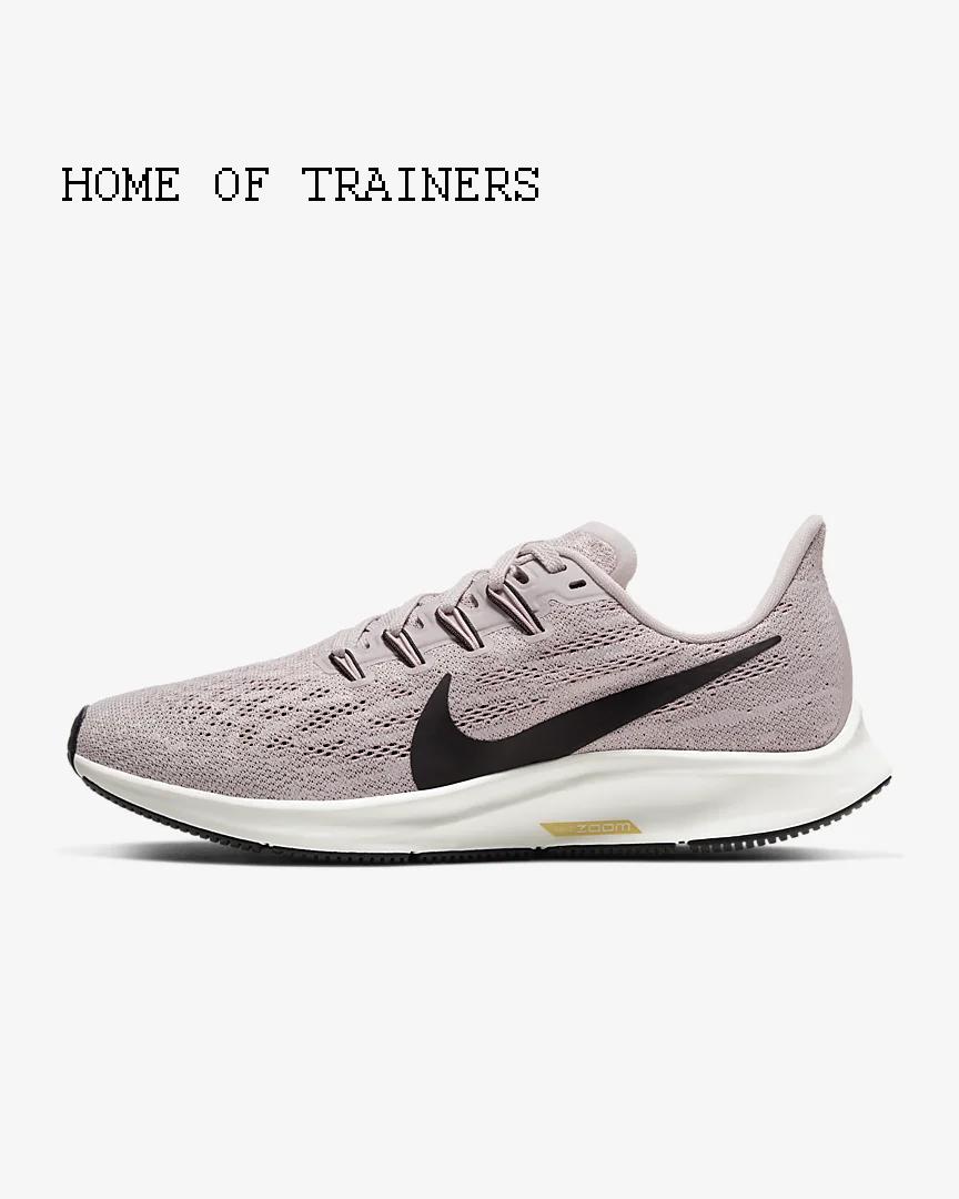Nike Luft Zoom Pegasus 36 Platinum lilat Pflaume Mädchen Damen Turnschuhe Alle Gr