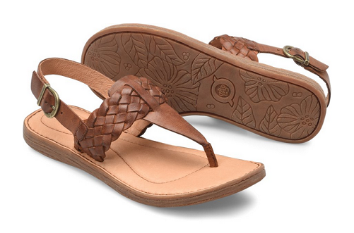 NIB Born Wouomo Sumter Sandal In British Tan